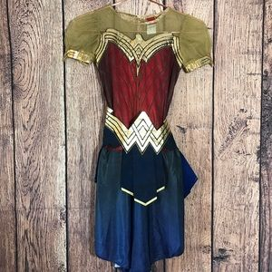 Other - Girls Wonder Woman Costume Dress With Belt Red